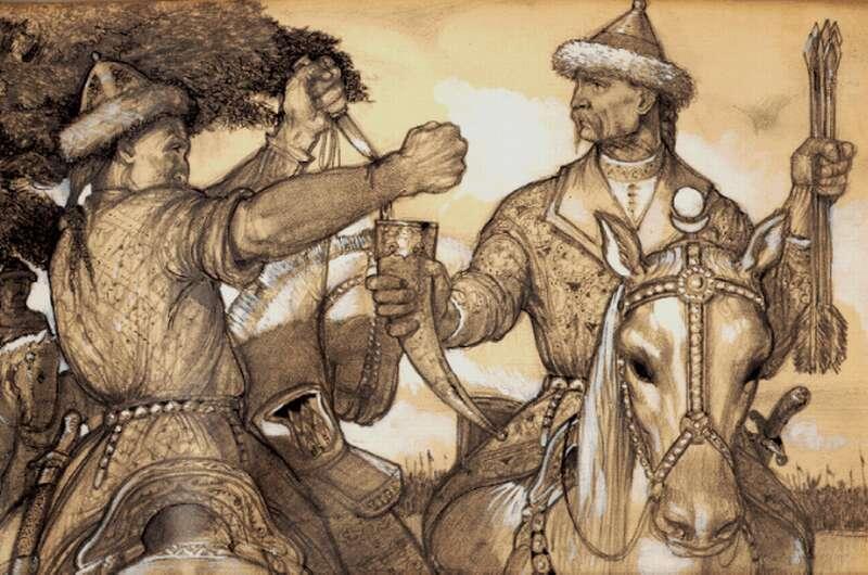 A vérszerződés - László Gyula akvarellje